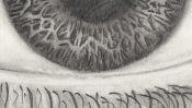 Drawing of an eye (2) (Detail 4)