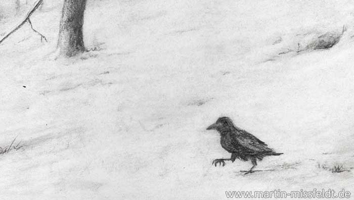 Drawing winter landscape forest (Detail 1)