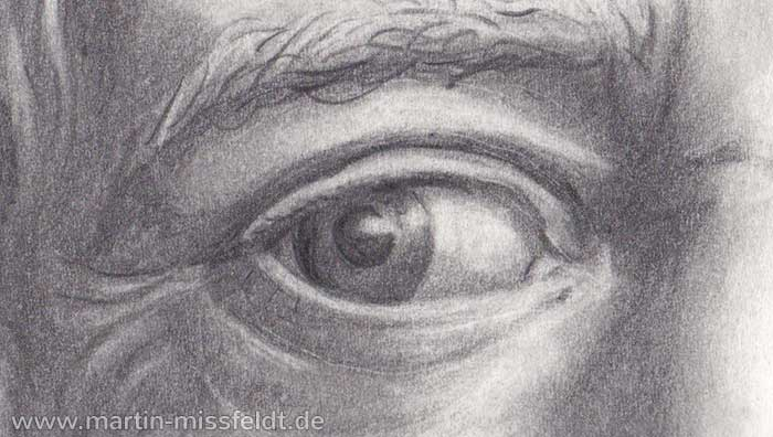 Goethe private - Portrait Drawing (Detail 1)