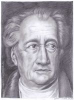 Johann Wolfgang von Goethe (portrait drawing)