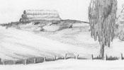 Landscape pencil drawing - Detail 1