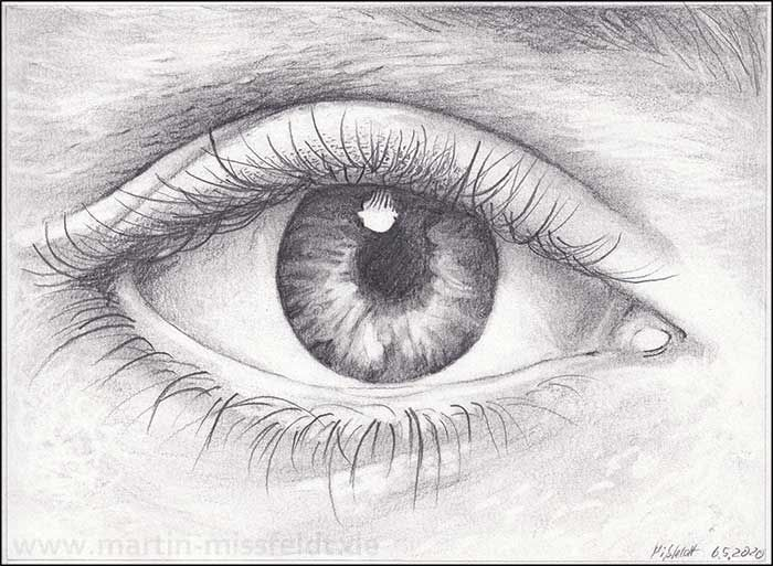 Pencil Drawing Realistic Eye