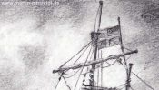Sailing ship (pencil drawing) (Detail 1)