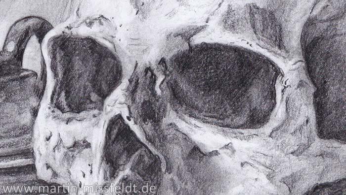 Vanitas Still Life (pencil drawing) (Detail 1)