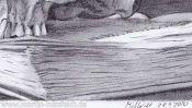 Vanitas Still Life (pencil drawing) (Detail 5)