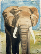 : African Elephant (Oilpainting)