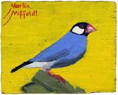 Blue Bird oilpainting