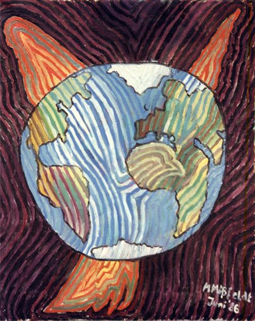 Deaf globe painting