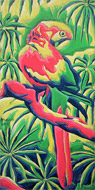 : Parrot in Jungle (oilpainting)
