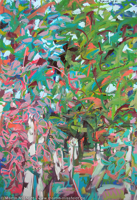 wild painting: branches and leaves