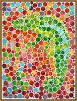 Oil-painting Chameleon - contemporary art