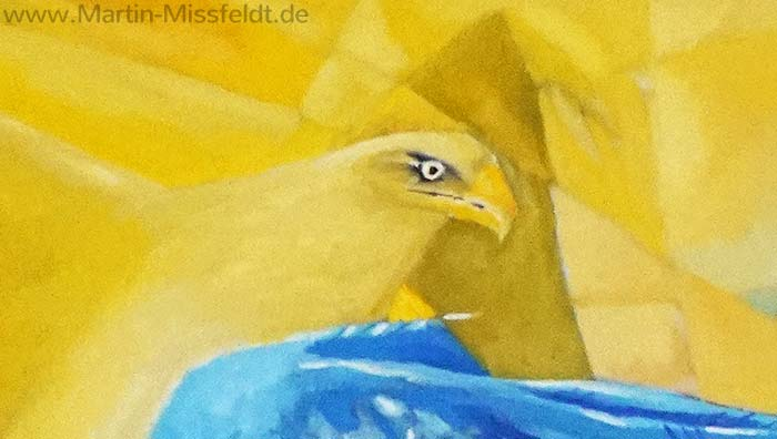 The falling Eagle (Oil painting) (Detail 1)