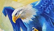 The falling Eagle (Oil painting) (Detail 2)