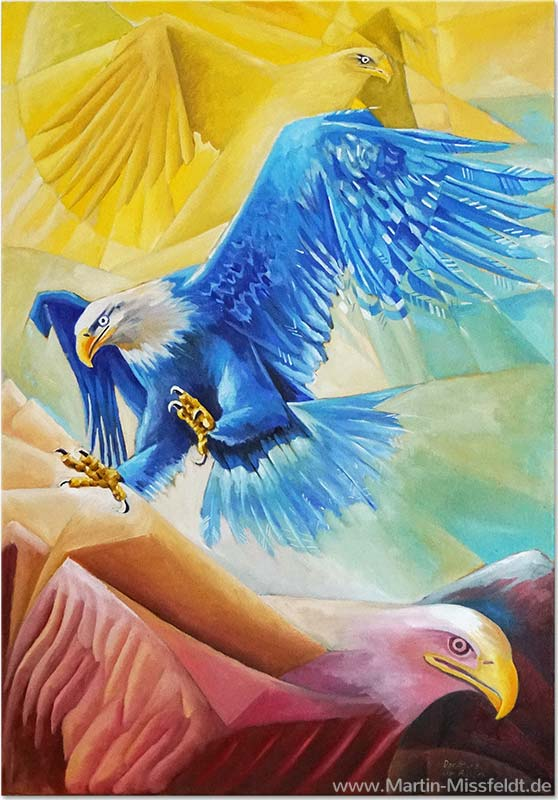 The falling Eagle (Oil painting)