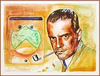 Watercolor portrait of Paul Klee