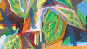 Abstract painting with leaves (Detail 2)