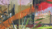 Oilpainting sunset, abstract landscape (Detail 2)