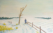 Oilpainting winter-landscape