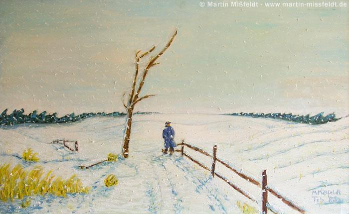 Oilpainting winter-landscape