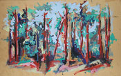 : Oilpicture forest