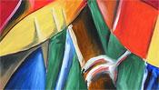 Cubistic parrots (oilpainting) (Detail 3)