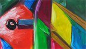 Oilpainting: piano picture (cubism) (Detail 1)