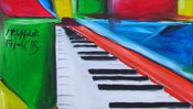 Oilpainting: piano picture (cubism) (Detail 2)