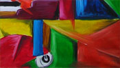 Oilpainting: piano picture (cubism) (Detail 3)
