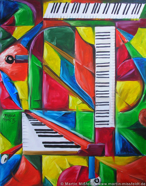Oilpainting: piano picture (cubism)