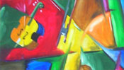 Cubism picture : Violin (Detail 2)