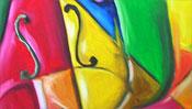 Cubism picture : Violin (Detail 3)