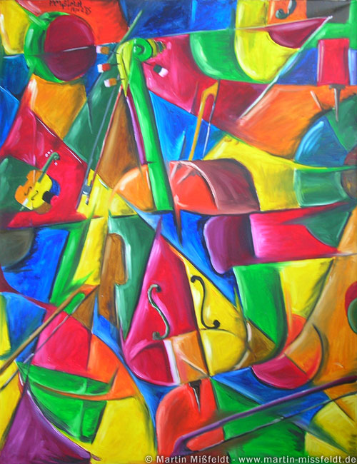 Cubism picture : Violin