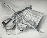 : Still life with violin