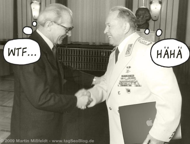 Erich Honecker with Mielke (with MacBook Pro)