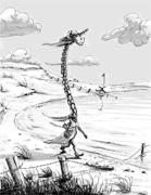 Lonely Tschad giraffe