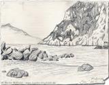 : Beach of Capri - summer holiday