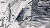 Sketched pencil lines