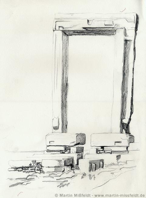 Door Pencil Drawing
