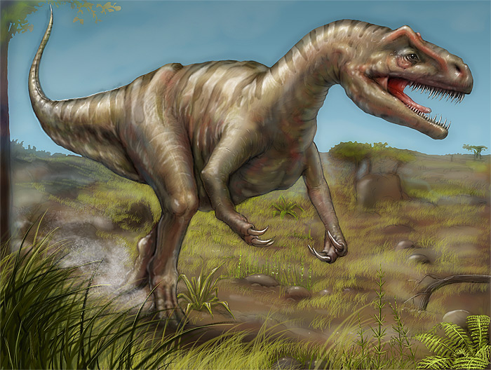 Allosaurus - photoshop retouch