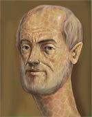 Aristotle - greek philosophy painting