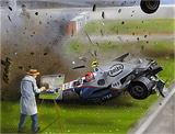: F1 Crash speed painting - car speedpainting