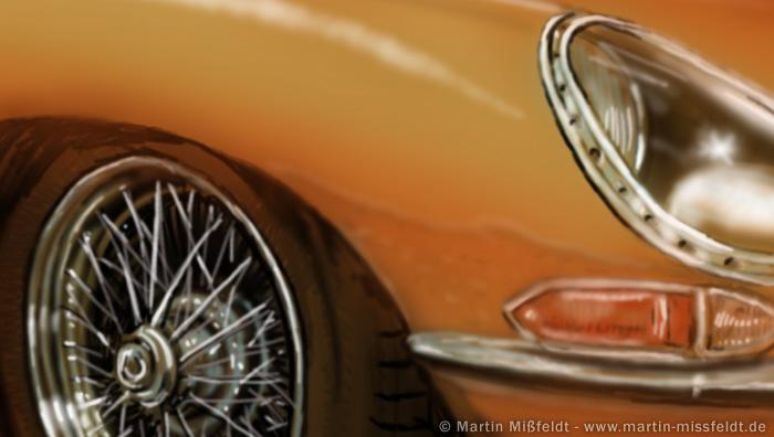 Jaguar E-type (Detail 1)