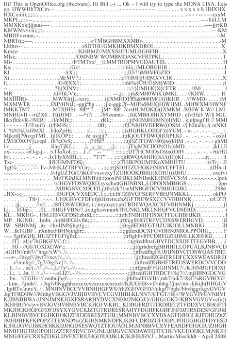 Typing Mona Lisa