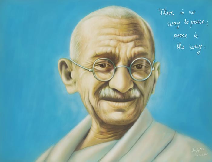 Mahatma Gandhi - speedpainting