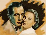 : Ingrid Bergmann, Humphrey Bogart - Casablanca