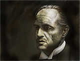 : Marlon Brando in the Godfather as Don Vito Corleone