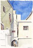 Corridor between the houses
