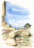 Naxos Gate - temple ruins