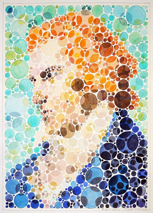 Friedrich Schiller Portrait (Watercolor)
