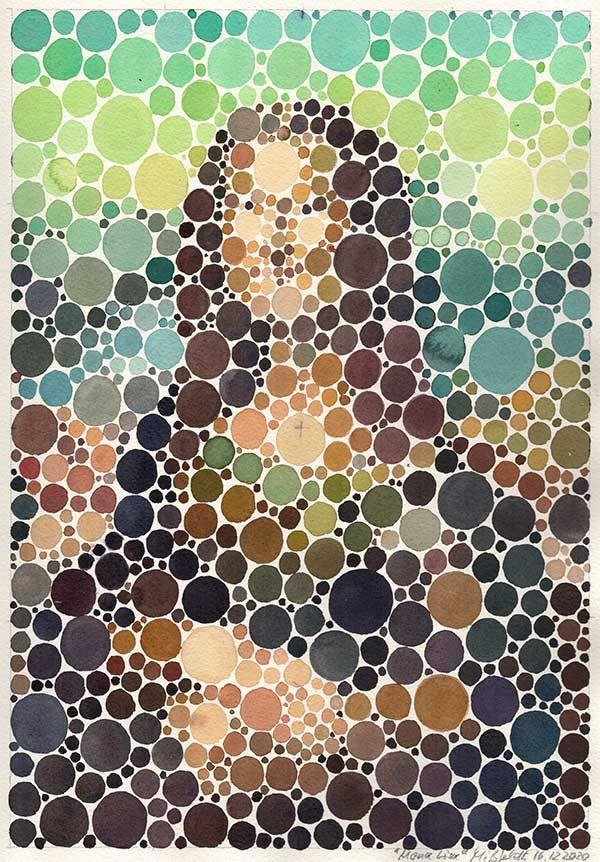Neo-Pointilism: Mona Lisa